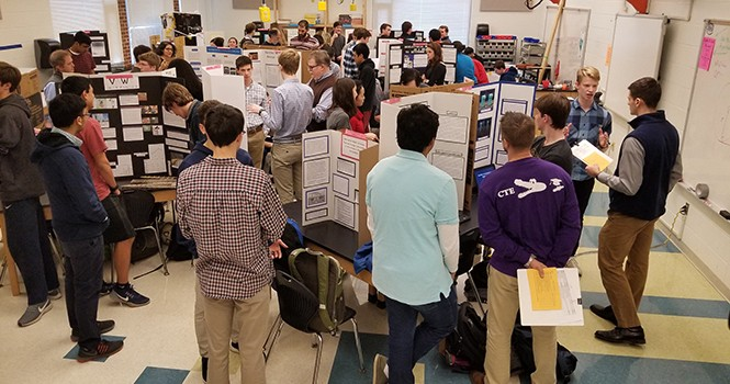 SKA visits two schools with Marshmallow Building project, judges MESA students Science Fair, ends week Regional Bridge Building Competition