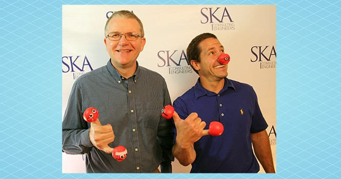 So much fun helping to end child poverty one nose at a time
